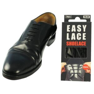 Easy Laces Silicone Shoe Laces - Round Black
