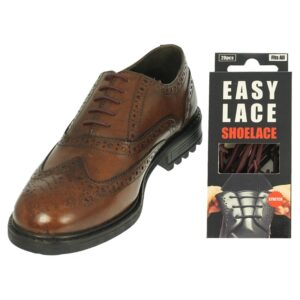 Easy Lace Silicone Laces - Round Brown