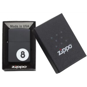 Zippo Billiards 8-ball Lighter Boxed