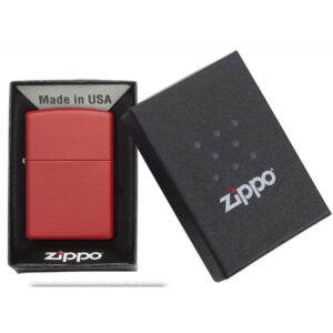 Zippo Classic Red Matte Lighter Boxed