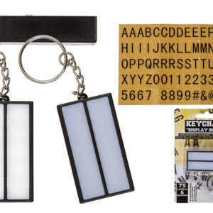 Lightbox Light Up Message Keyring Packet