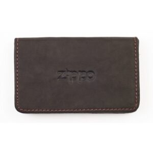 Zippo Mocha Leather Business Card Holder