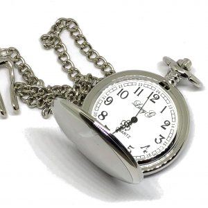 Classic Silver Pocket Watch Open