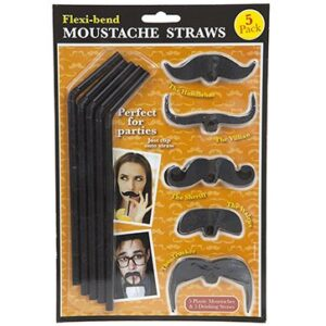 Novelty Moustache Straws