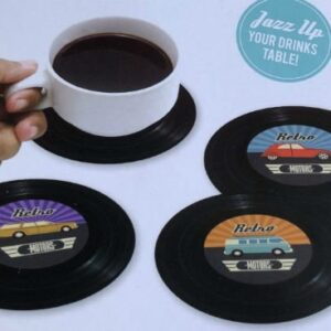 Retro Car Coasters Cup Mats