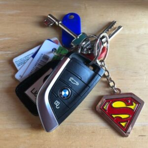 Superman Key ring on Car Keys