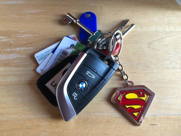 Superman Key ring on Car Keys