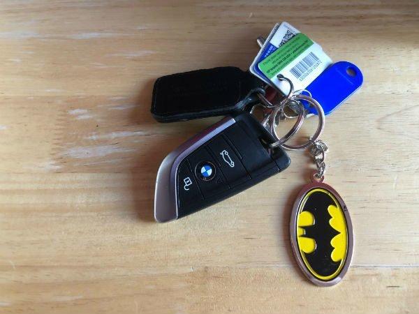 Batman Key ring on Car Keys