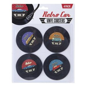 Retro Car Coasters set Cup Mats