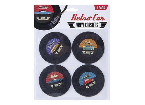 Retro Car Coasters set Cup Mats