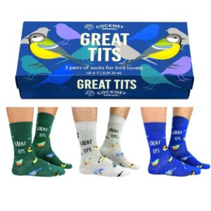 Great Tits Novelty Socks Gift Box