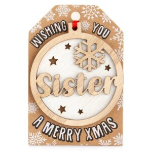 personaised-sister-wooden-tree-decoration